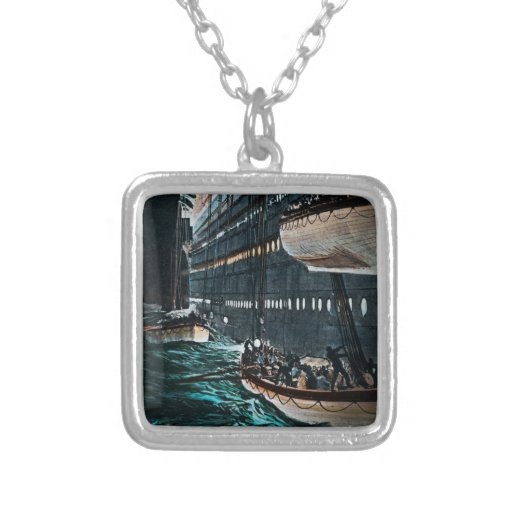 RMS Titanic Launching of the Lifeboats Vintage Necklace
