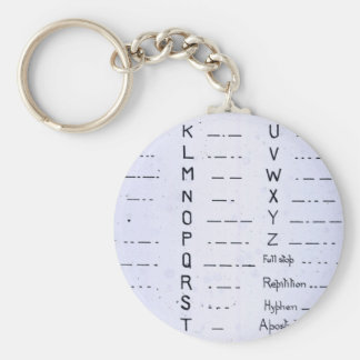 RMS Titanic Morse Code Vintage S O S Keychains
