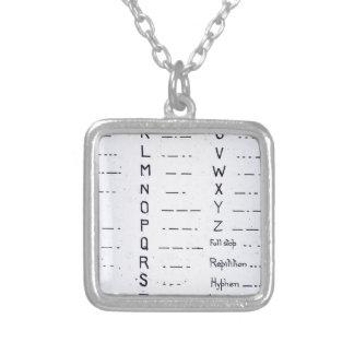 RMS Titanic Morse Code Vintage S.O.S. Square Pendant Necklace