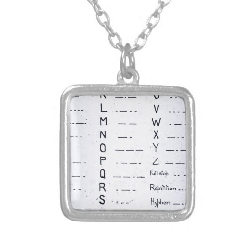 RMS Titanic Morse Code Vintage S.O.S. Pendant