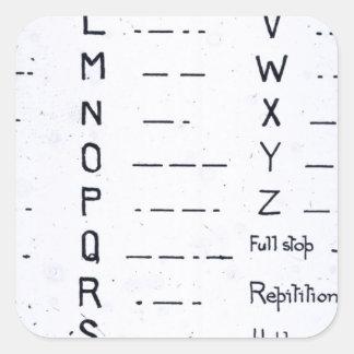 RMS Titanic Morse Code Vintage S.O.S. Square Sticker