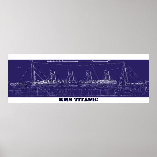 RMS Titanic Original Blueprint, Enhanced for Color Print