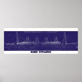 RMS Titanic Original Blueprint, Enhanced for Colou