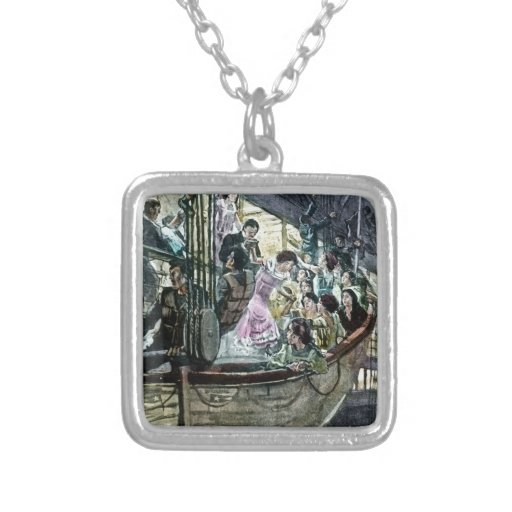 RMS Titanic Panic on Deck Rush for the Lifeboats Custom Necklace
