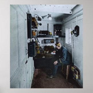 RMS Titanic Radio Operator SOS Poster