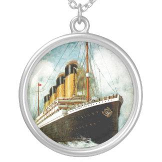 RMS Titanic Round Pendant Necklace