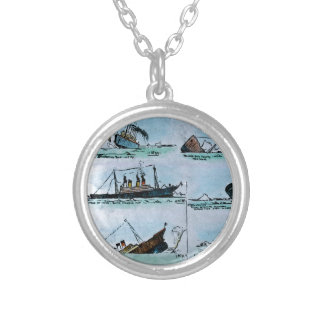 RMS Titanic Sinking Magic Lantern Slide Custom Jewelry