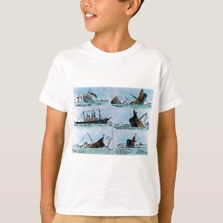 RMS Titanic Sinking Magic Lantern Slide Tee Shirts