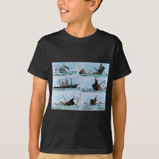 RMS Titanic Sinking Magic Lantern Slide Vintage T-Shirt