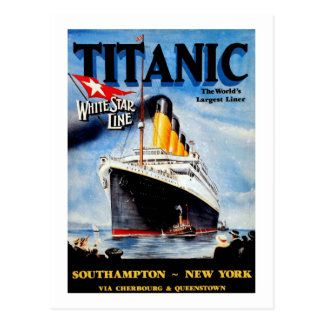 RMS Titanic Travel Ad Postcard
