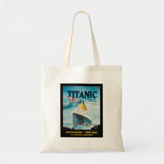 RMS Titanic Vintage Poster Art Budget Tote Bag