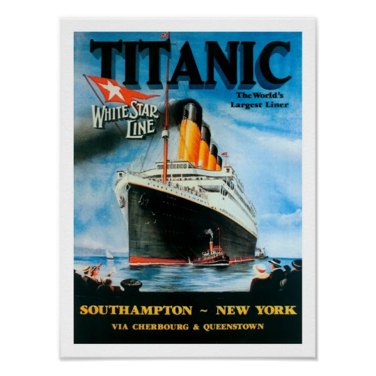 RMS Titanic- World's Largest Liner Centenary Poster