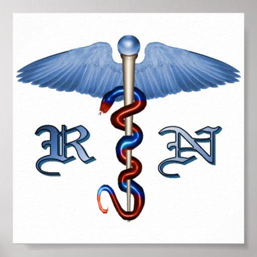 RN Caduceus Poster