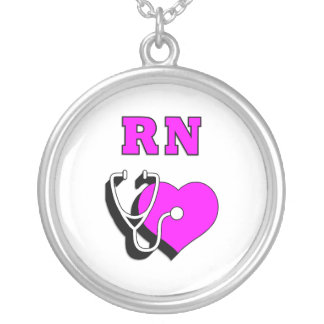 RN Care Round Pendant Necklace