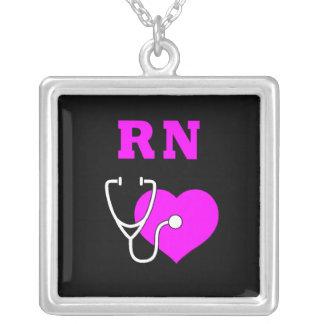 RN Care Square Pendant Necklace