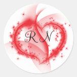 RN heart Stickers