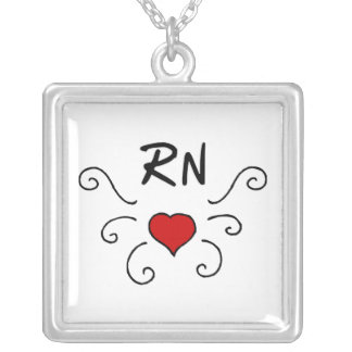 RN Love Tattoo Silver Plated Necklace