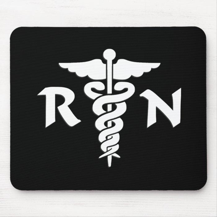 RN Medical Symbol Mouse Pad