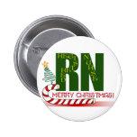 RN MERRY CHRISTMAS REGISTERED NURSE PINBACK BUTTONS