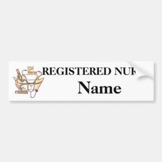 RN Nurse Collage Bumper Sticker