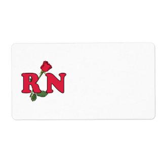 RN Nurse Rose Shipping Label