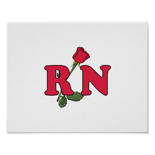 RN Nurse Rose Posters