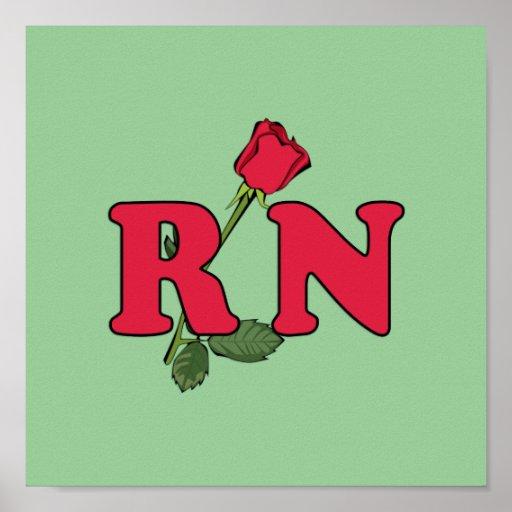 RN Nurse Rose Print