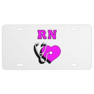 RN Nurses Care License Plate
