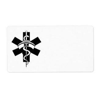 RN Nurses Shipping Label