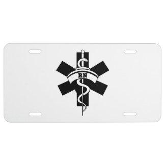RN Nurses License Plate