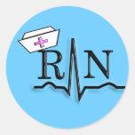 RN QRS Nurse Cap Design Sticker