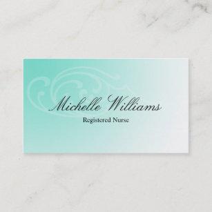 Registered nurses business cards zazzle uk rn registered nurse aqua business cards colourmoves