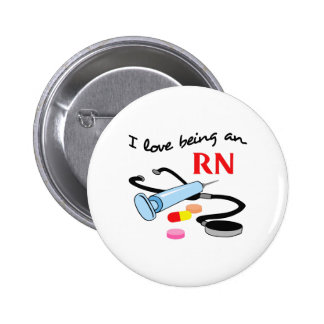 RN REGISTERED NURSE 6 CM ROUND BADGE