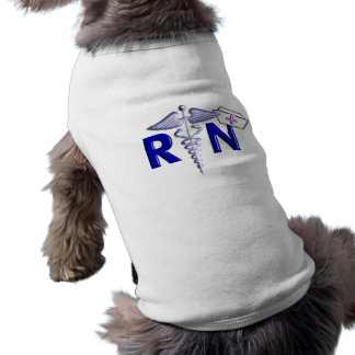 RN (Registered Nurse) Gifts-Embossed Style Sleeveless Dog Shirt