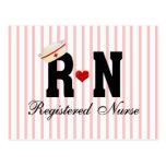 RN Registered Nurse Postcard