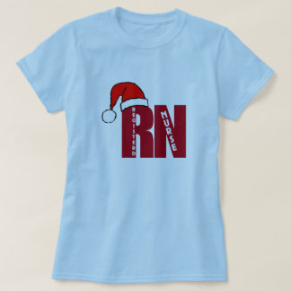 RN Santa with HAT for Registered Nurses CHRISTMAS T-Shirt