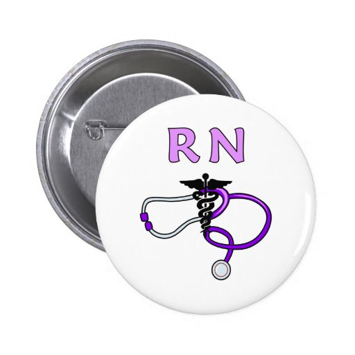 RN Stethoscope 6 Cm Round Badge