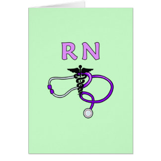 RN Stethoscope Card