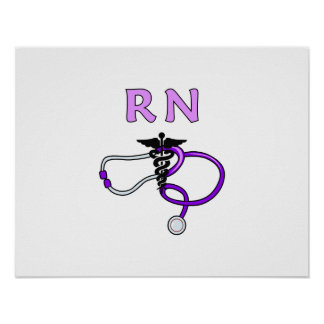RN Stethoscope Poster