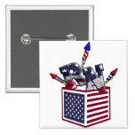 RN USA FLAG BOX O FIREWORKS - REGISTERED NURSE PINS