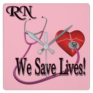 RN We Save Lives Clock