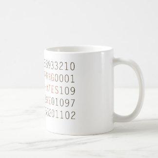 RNG Hates Me numbers coffee mug