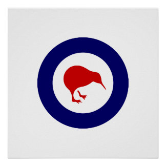 Rnzaf roundel, New Zealand Poster