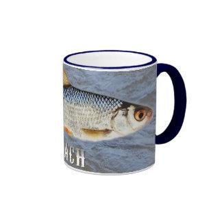 Roach Freshwater Fish, With Water Background Image Ringer Mug