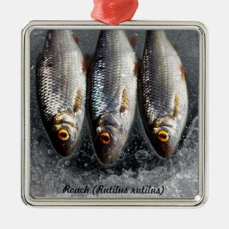 Roach Silver-Colored Square Decoration