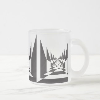 road abstract angular perspective frosted glass mug