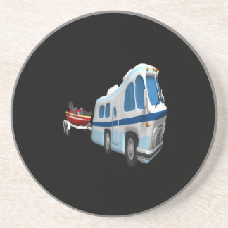 Road And Boat Trip Beverage Coasters