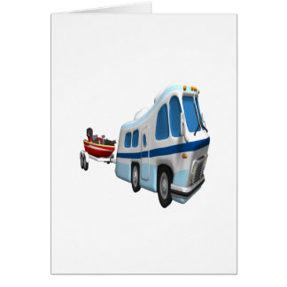 Road And Boat Trip Greeting Card