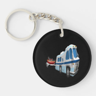 Road And Boat Trip Acrylic Key Chain