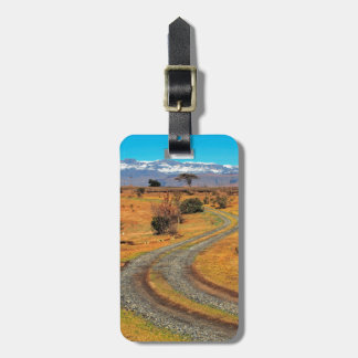 Road And Snow-Capped Cathedral Range, Champagne Bag Tag